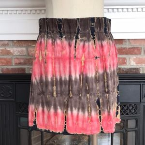 Camila Clothing Boho Tie Dyed Linen Skirt USA